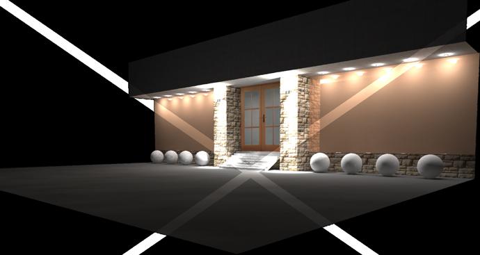 Проект освещения фасада стоматологической клиники GDG г. Владивосток