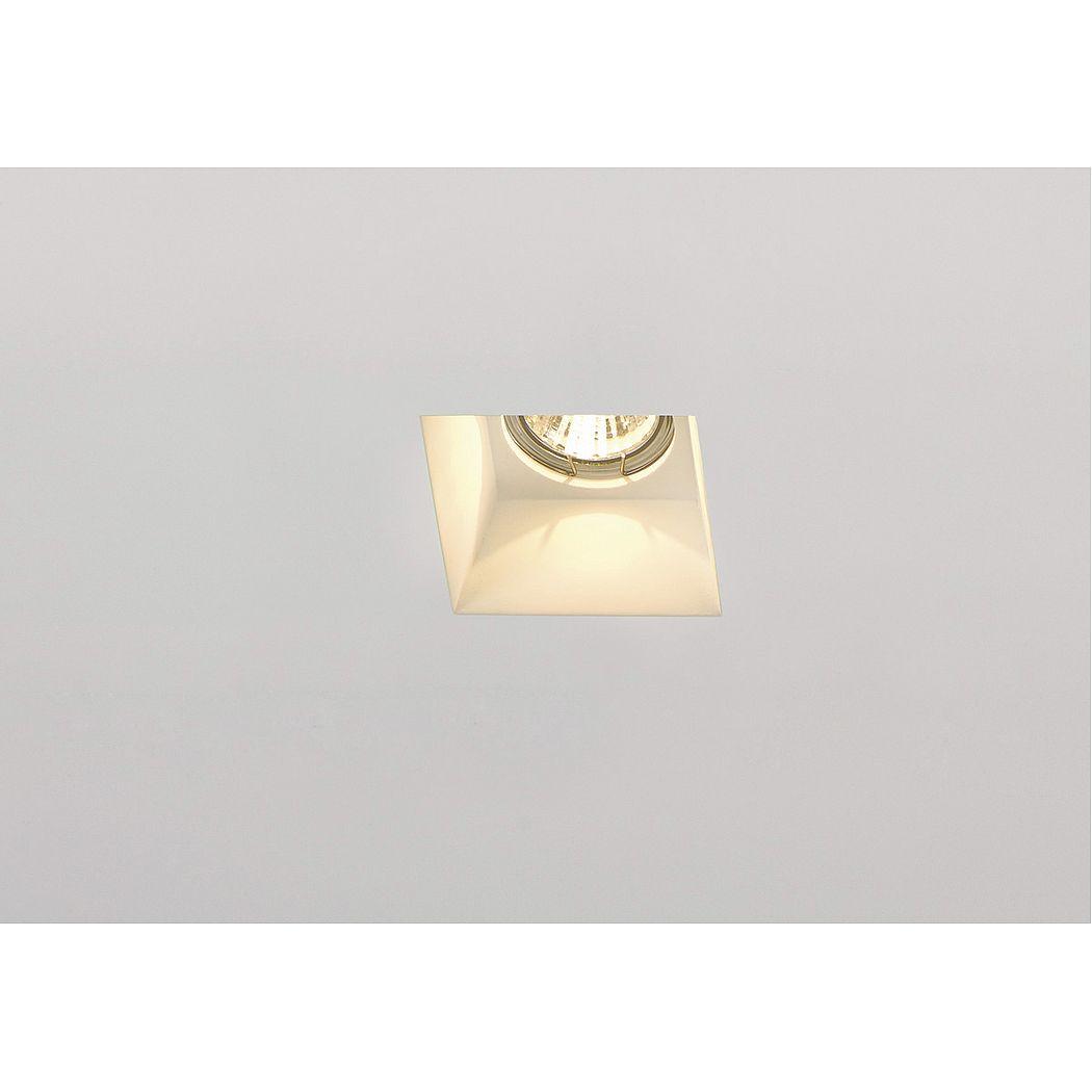 PLASTRA DL GU10 SQUARE светильник встраиваемый для лампы GU10 35Вт макс., белый гипс