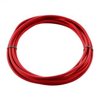 КАБЕЛЬ 3х 0,75 кв.мм, 5 м, H03W-F, в текстильной оплетке, красный